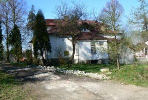 Zdjęcie przedstawiające dwór w Kobylu