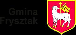 Obrazek przedstawia herb Gminy Frysztak białego baranka na czerwonym tle oraz napis Gmina Frysztak