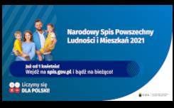 Więcej o: Narodowy Spis Powszechny Ludności i Mieszkań 2021 (NSP2021)