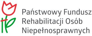 Na obrazku szkic przedstawiający różę po lewej stronie, po prawej napis Państwowy Fundusz Rehabilitacji Osób Niepełnosprawnych