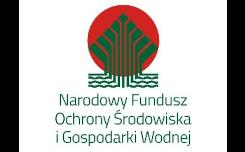 Zielony napis Narodowy Fundusz Ochrony Środowiska i Gospodarki Wodnej